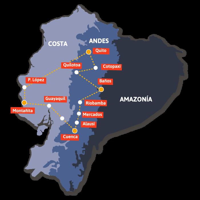 Rutas en Ecuador