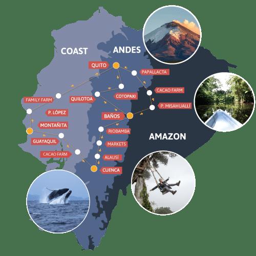 Our Ecuador Routes